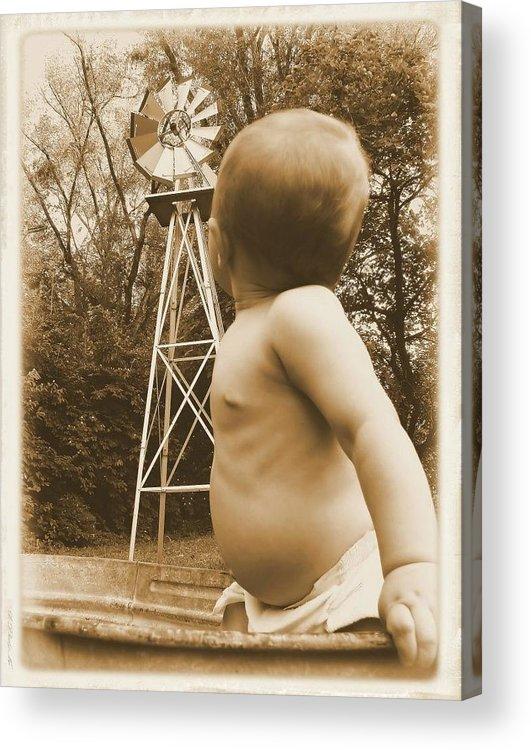 Vintage Acrylic Print featuring the photograph Curiosity by Trisha Mark