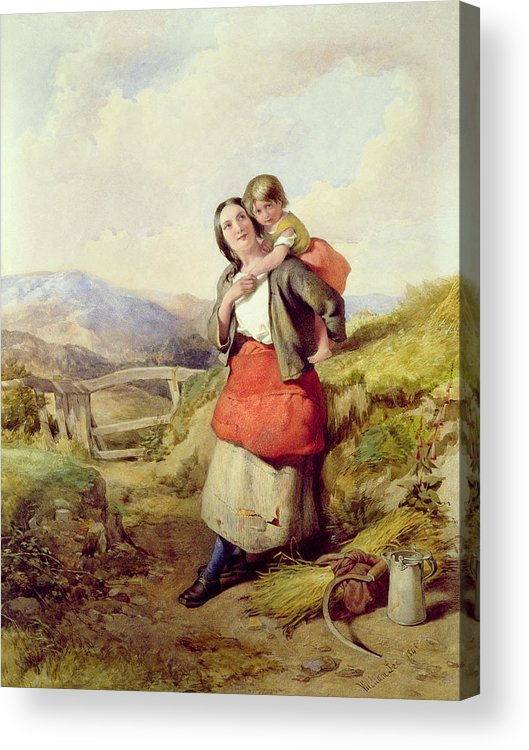 Mother Acrylic Print featuring the painting Going Home by William Lee