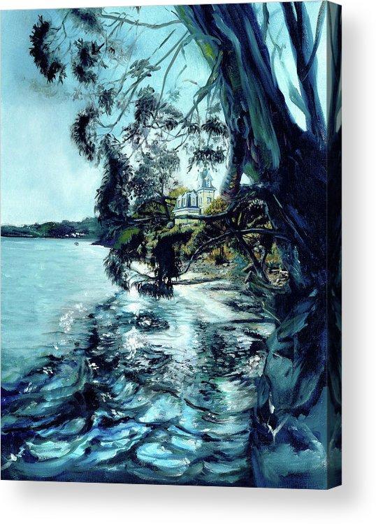 Tiburon Acrylic Print featuring the painting High Tide At The Tiburon Audubon by Graciela Placak