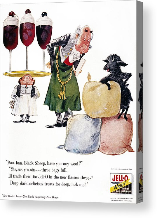 1957 Acrylic Print featuring the photograph Jell-o Advertisement, 1957 by Granger