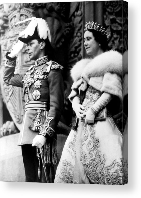 1930s Candid Acrylic Print featuring the photograph King George Vi, Queen Elizabeth by Everett