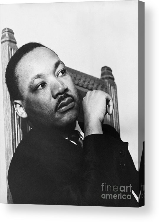 History Acrylic Print featuring the photograph Martin Luther King, Jr by Photo Researchers