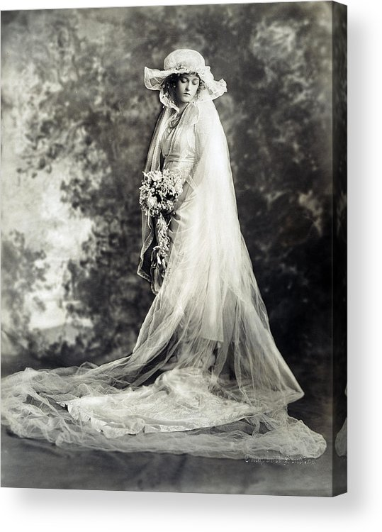 1920 Acrylic Print featuring the photograph New York: Bride, 1920 by Granger