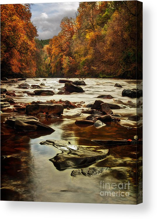 Fall Acrylic Print featuring the photograph The Fall On The River Avon by John Farnan