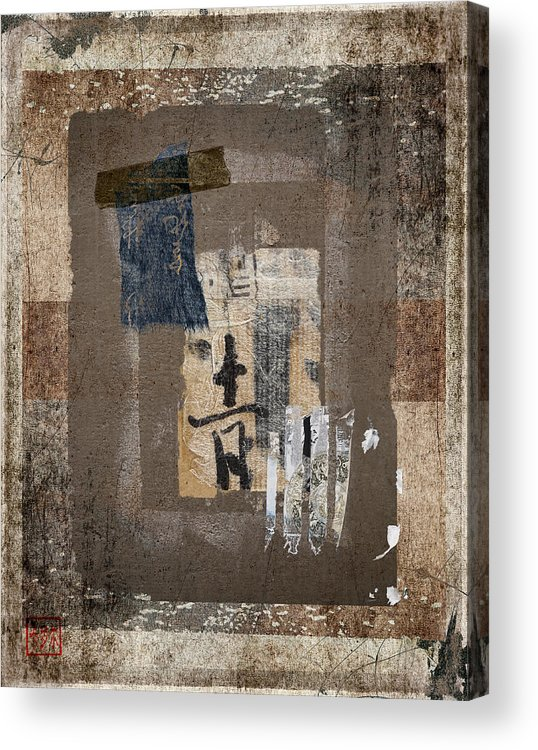 Torn Acrylic Print featuring the photograph Torn Papers On Wall Number 3 by Carol Leigh