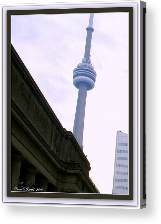 Architecture Art Prints Acrylic Print featuring the photograph Toronto Cn Tower Canada by Danielle Parent