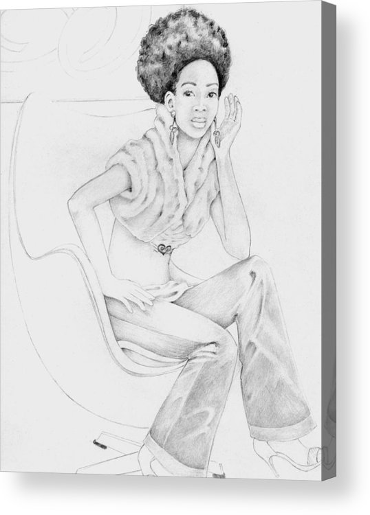 Acrylic Print featuring the drawing 009 by Candace Williams