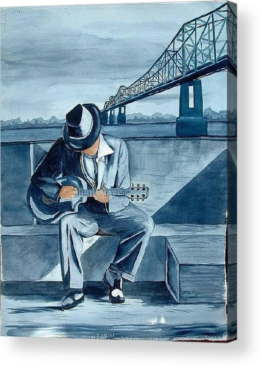 Blues Acrylic Print featuring the painting Helena Blues by Diane Ziemski