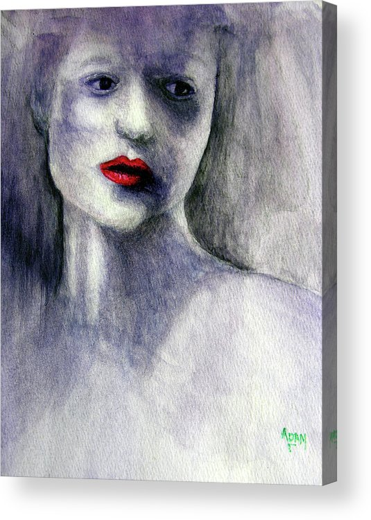 Woman Acrylic Print featuring the painting Sara by Adam Vance