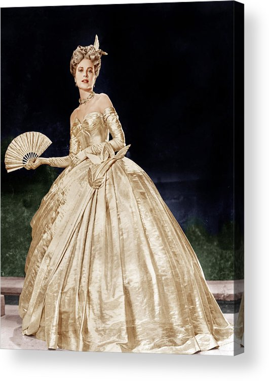 1950s Portraits Acrylic Print featuring the photograph To Catch A Thief, Grace Kelly, 1955 by Everett
