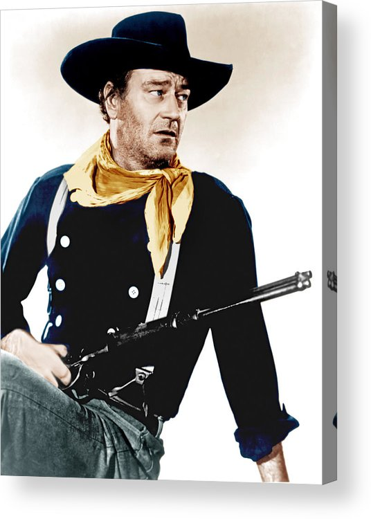 1950s Portraits Acrylic Print featuring the photograph The Searchers, John Wayne, 1956 by Everett