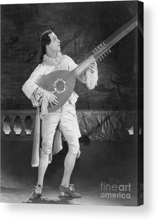 -nec12- Acrylic Print featuring the photograph Rudolph Valentino by Granger