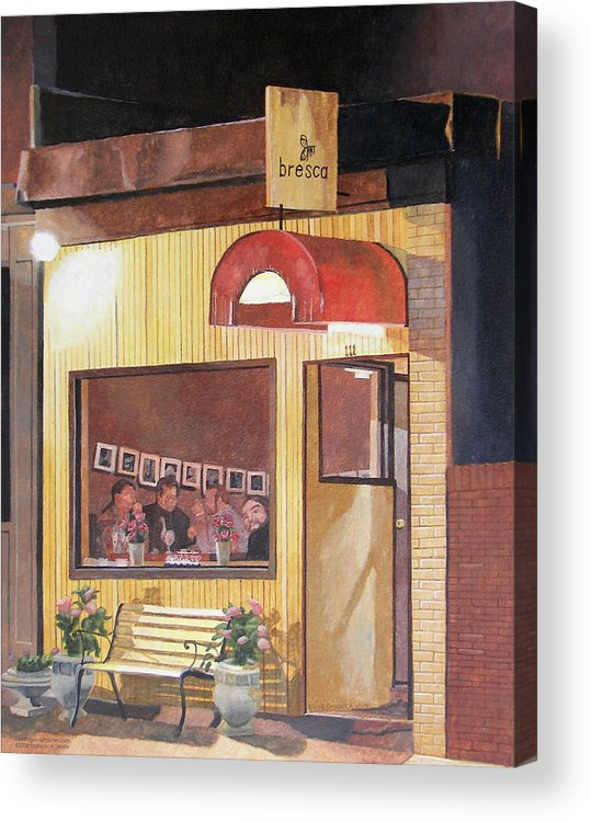 Restaurant Acrylic Print featuring the painting A Night At Bresca by Dominic White
