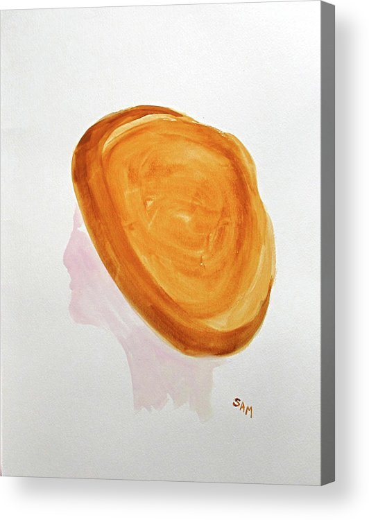Hat Acrylic Print featuring the painting A Simple Hat by Sandy McIntire