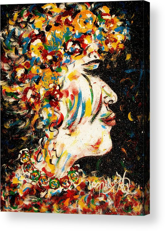 Woman Acrylic Print featuring the painting Absolutely Not by Natalie Holland
