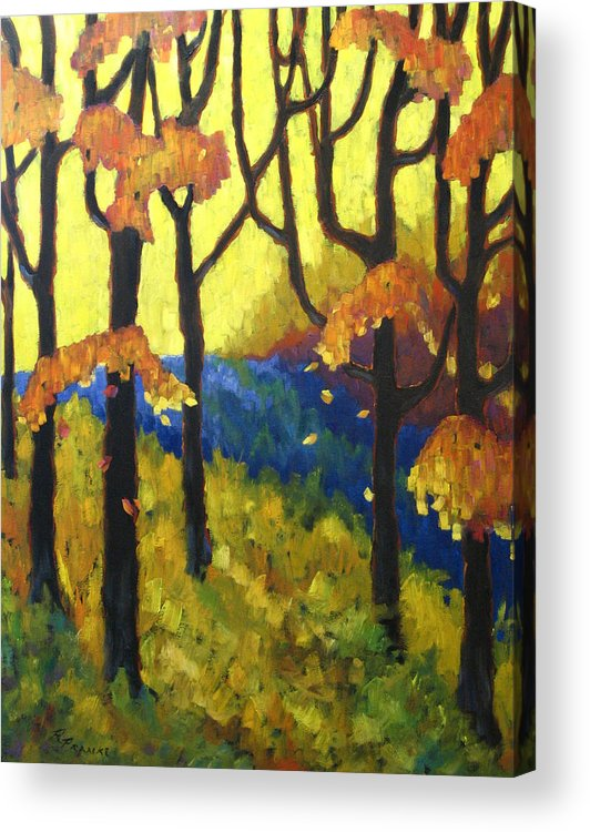 Art Acrylic Print featuring the painting Abstract Forest by Richard T Pranke