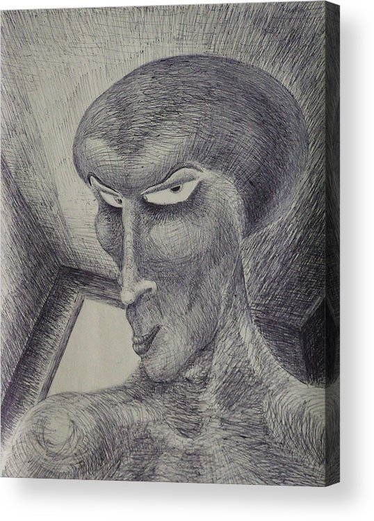 Drawing Acrylic Print featuring the drawing Always Watching You by Mark Sharer