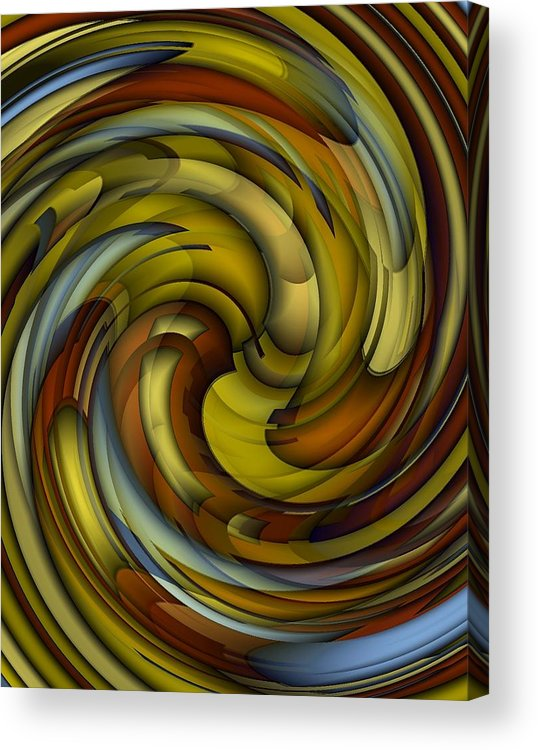Abstract Acrylic Print featuring the digital art An Amazing Capture by Terry Mulligan