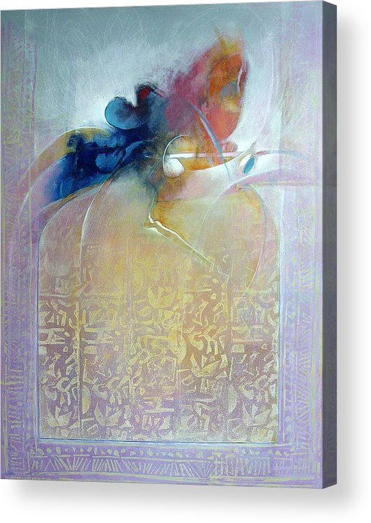 Abstract Acrylic Print featuring the painting Ancient Sources by Dale Witherow