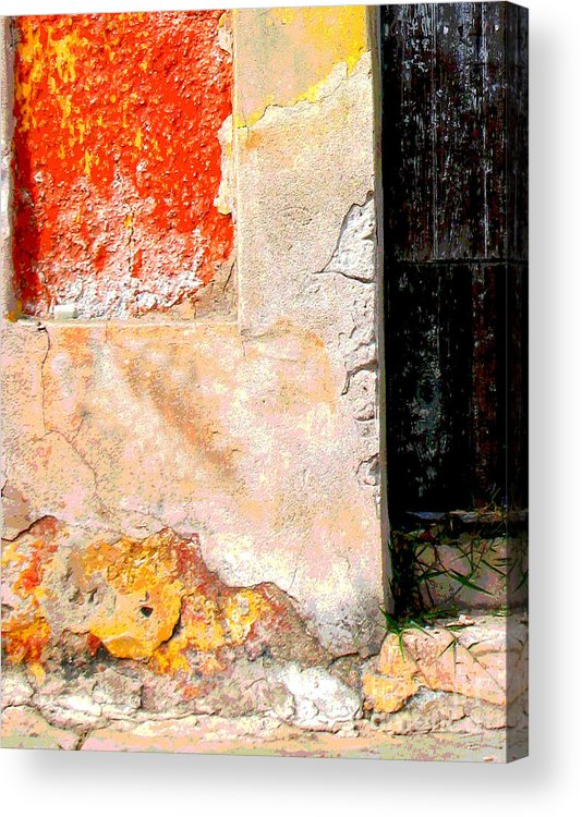 Michael Fitzpatrick Acrylic Print featuring the photograph Ancient Wall 4 By Michael Fitzpatrick by Mexicolors Art Photography