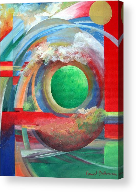 Abstract Acrylic Print featuring the painting Arc by Muriel Dolemieux