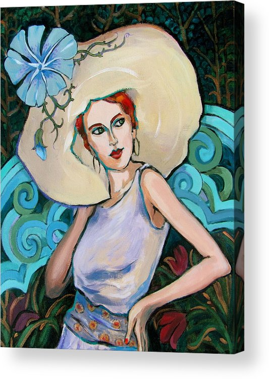 Portrait Acrylic Print featuring the painting Art Nouveau by Dianna Willman