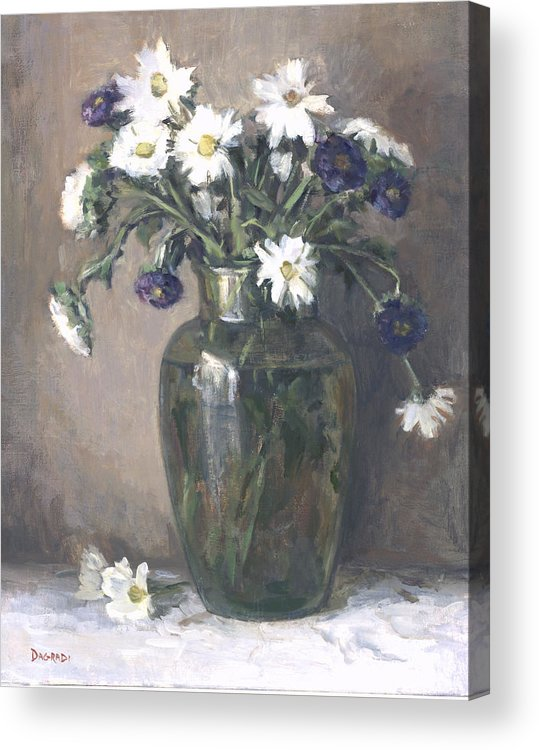 Floral Still Life Acrylic Print featuring the painting Asters And Daisies by Joan DaGradi