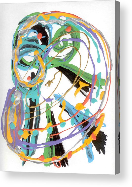 Clef Acrylic Print featuring the painting Bass Clef by Helene Henderson