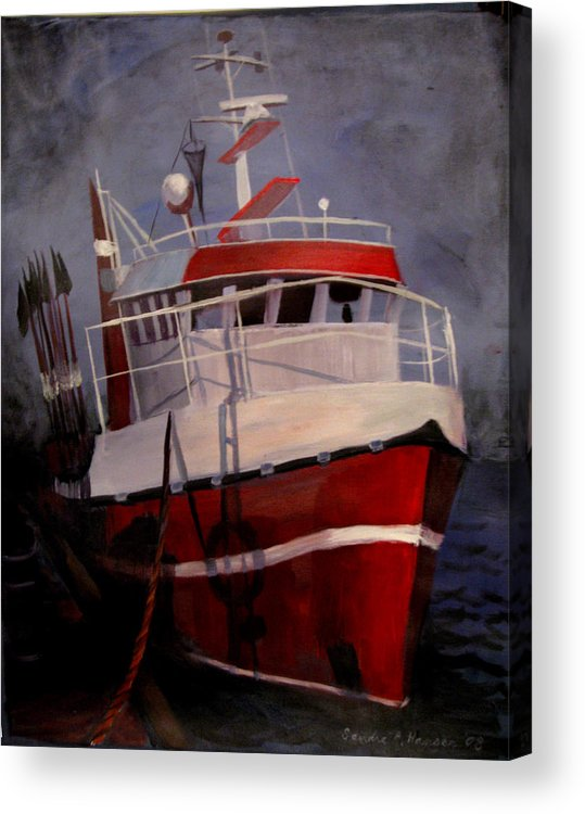 Fishing Acrylic Print featuring the painting Bold Power by Art Nomad Sandra Hansen