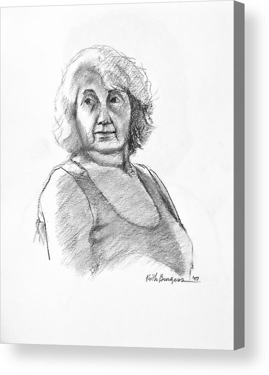 Drawing Acrylic Print featuring the drawing Bonnie by Keith Burgess