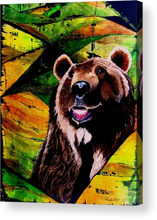 Bears Acrylic Print featuring the painting Brownie by Liz Borkhuis