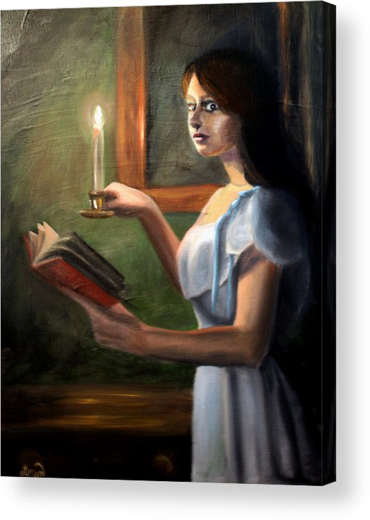 Night Acrylic Print featuring the painting Bump In The Night by Maryn Crawford
