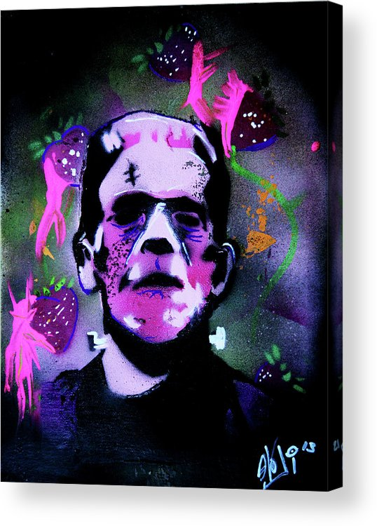 Cereal Killers Acrylic Print featuring the painting Cereal Killers - Frankenberry by eVol i