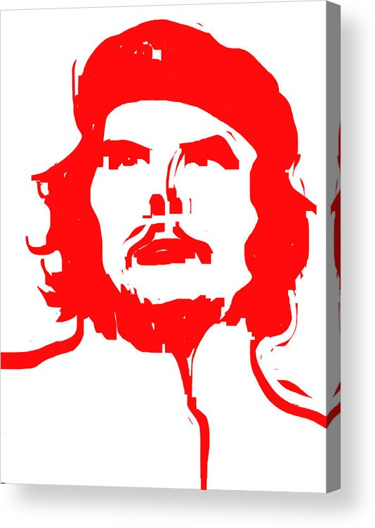Che Acrylic Print featuring the digital art Che by Rob Prince