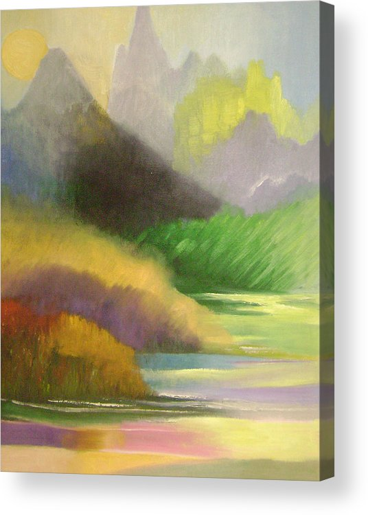 Abstract Acrylic Print featuring the painting Chinese Landscape 2 by Lian Zhen