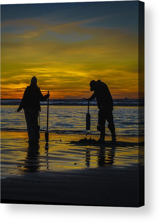 Award Winning Photo Acrylic Print featuring the photograph Clam Dig Pair by Shannon West