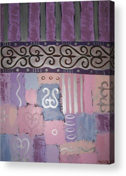 Abstract Acrylic Print featuring the painting Composition 2 by Aliza Souleyeva-Alexander