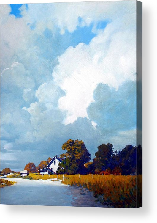 Landscape Acrylic Print featuring the painting Country Home by Kevin Lawrence Leveque