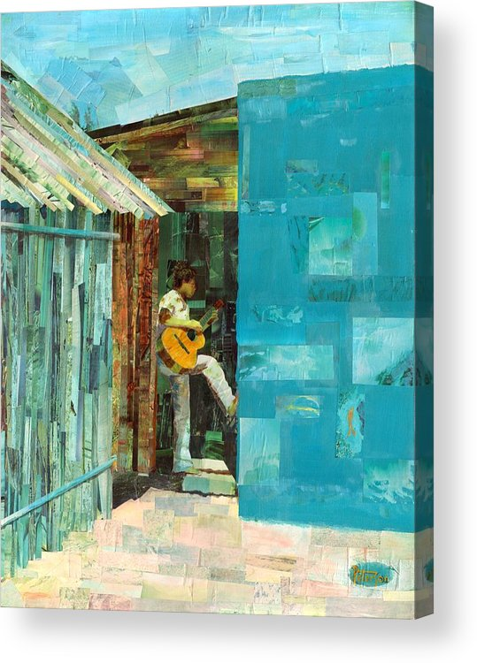 Cozumel Mexico Acrylic Print featuring the painting Cozumel Mexico by Gary Peterson