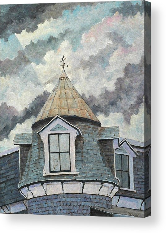 Art Acrylic Print featuring the painting Crack The Sky_reserve by Richard T Pranke