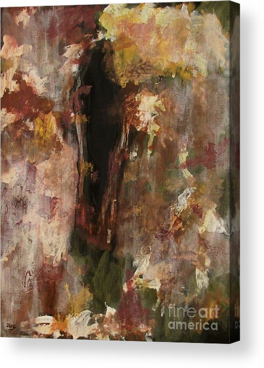 Abstract Acrylic Print featuring the painting Dark Presence by Itaya Lightbourne