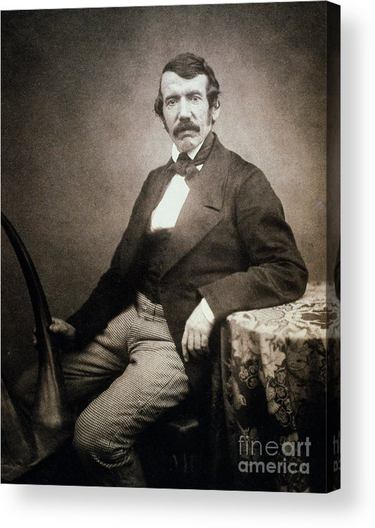 1864 Acrylic Print featuring the painting David Livingstone (1813-1873) by Granger
