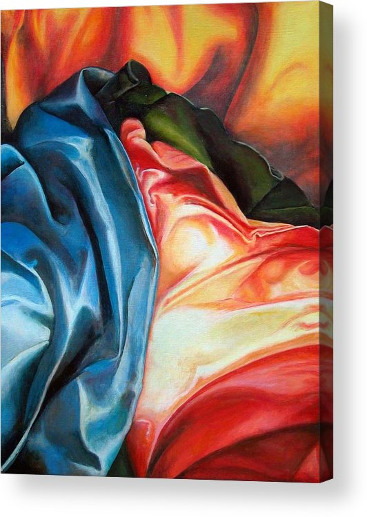 Drap Acrylic Print featuring the painting Drape by Muriel Dolemieux