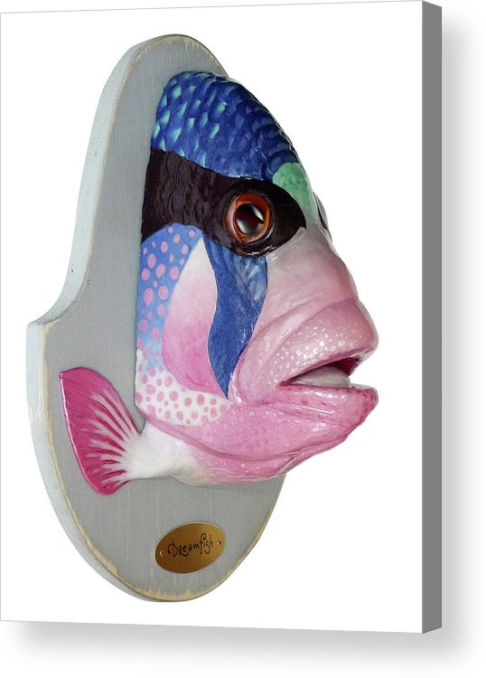 Fish Acrylic Print featuring the sculpture Dreamfish Trophy by Artem Efimov