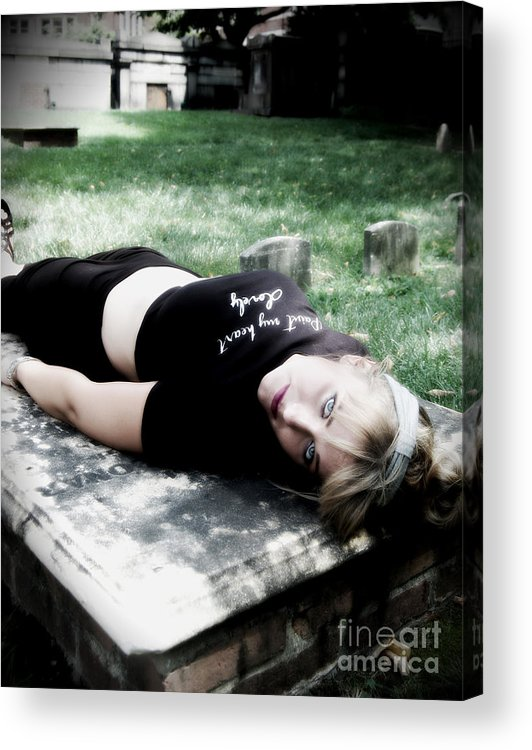 Woman Acrylic Print featuring the photograph Drop Dead by Chanel Fernandez