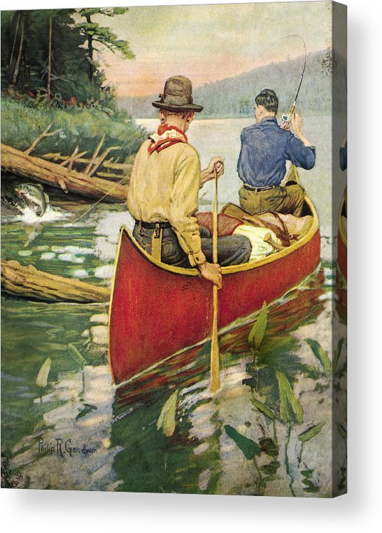 Philip Goodwin Acrylic Print featuring the painting Early Morning Thrill by JQ Licensing