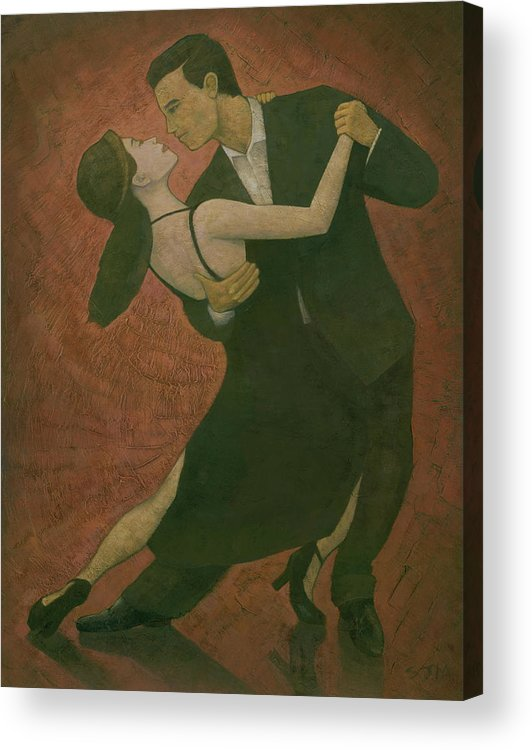Tango Acrylic Print featuring the painting El Tango by Steve Mitchell