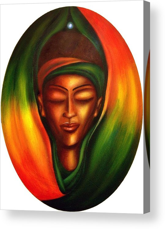Beauty Acrylic Print featuring the painting Essence by Lee Grissett