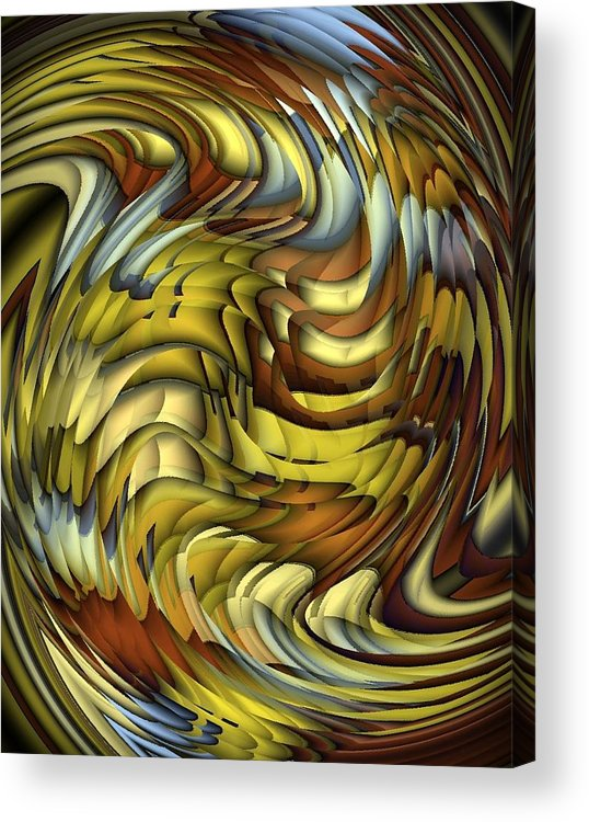 Abstract Acrylic Print featuring the digital art Flutter by Terry Mulligan