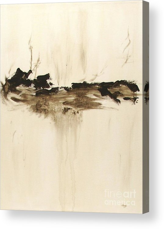 Abstract Acrylic Print featuring the painting Forgotten  by Itaya Lightbourne